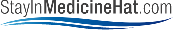 Stay in Medicine Hat logo with black text